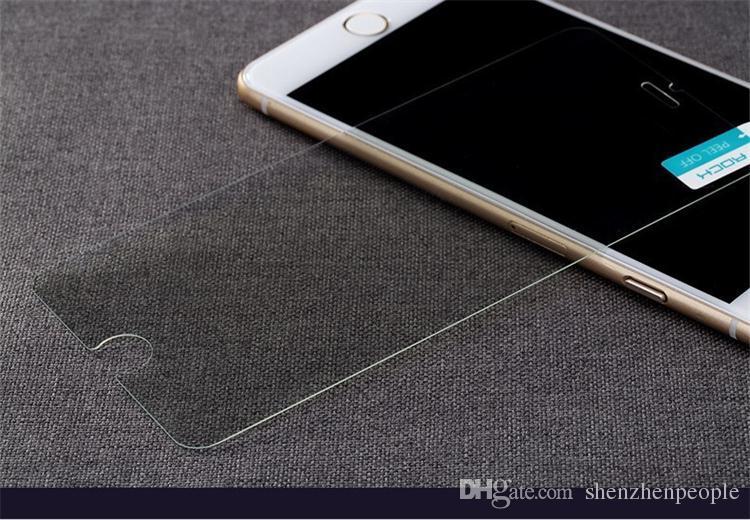 Pour téléphone portable smartphone 4.7inch 5.5inch Écran en verre trempé Protetor Anti-empreintes digitales pour smartphonr avec emballage