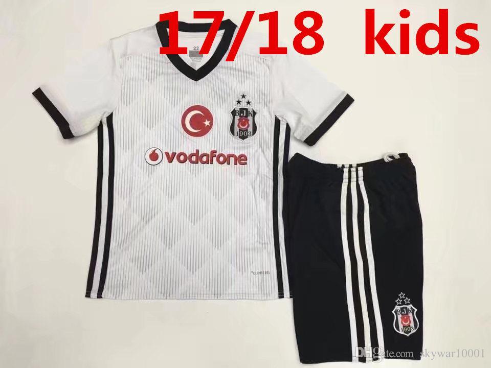 Niños Fijaron 2017 2018 Turquía Besiktas Jk Jerseys Del Fútbol 17 18 Niños  Del Niño Camisas Del Jersey De Fútbol De Besiktas Por Skywar10001 8efc4f7aeb92c