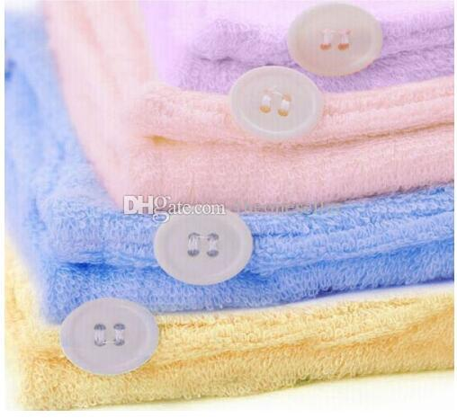 Free EMS Microfiber Magic Hair Dry Drying Turban Wrap Towel Long-haired Ultrafine Super Absorbent Fiber Hat Dry Hair Towel L470