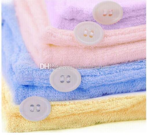 Freies Verschiffen / Mikrofaser magisches Haar trocken trocknen Turban-Verpackungs-Tuch / Hut / Kappe Quick Dry Trockner Badewanne / Make-up Handtuch