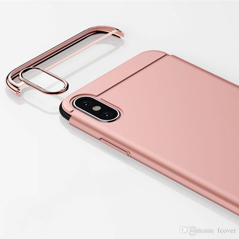 3 in 1 Armatura l'iphone 7 8 Inoltre iphone 11 Pro X XR XS Max SE 2020 Slim Case iphone 12 Mini 12 Pro Max placcatura di copertura