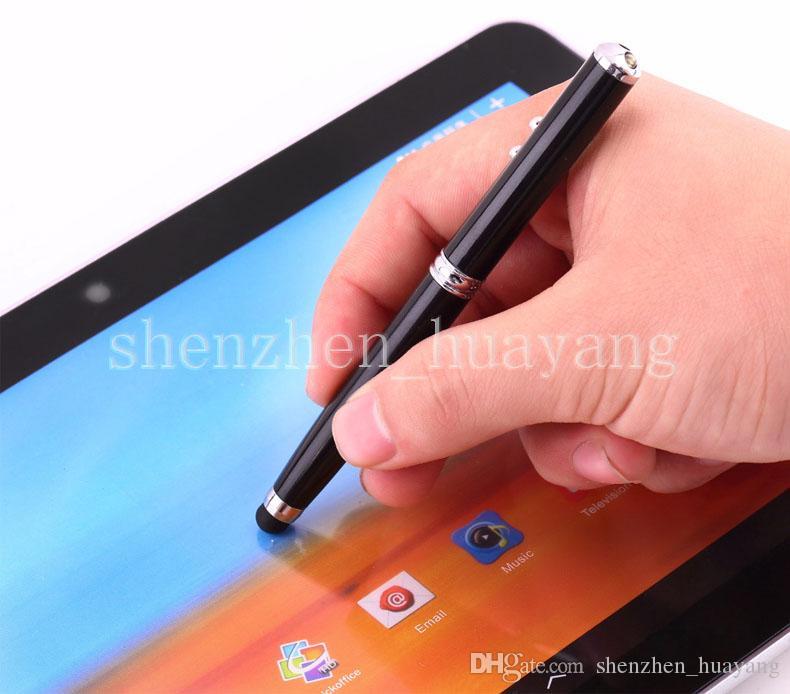 4 in 1 Laserpointer LED-Taschenlampe Touch Screen Stylus Kugelschreiber für Universal Smartphone-Großhandel