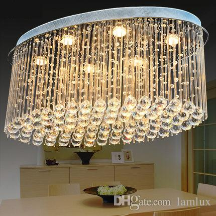 New design patent oval crystal ceiling chandeliers k9 crystal new design patent oval crystal ceiling chandeliers k9 crystal modern led chandelier lighting pendent lamps for dinning room villa hotel home oval led mozeypictures Gallery