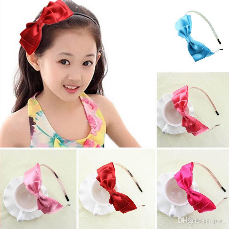 Oversized Satin Bow Alice Hair Band Headband Bridal Wedding Flower Girl  Gift Girls Hair Accessories Wholesale Jeweled Hair Accessories From Pig  e0363ac96f9