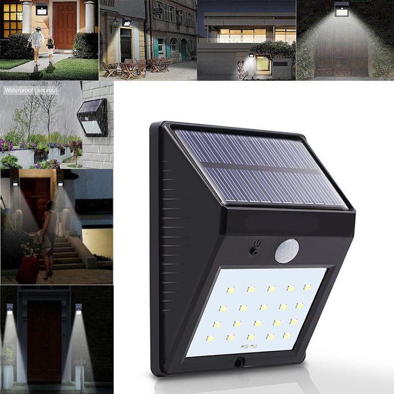 2019 20 LED Solar Power Spot Light Motion Sensor Outdoor Garden Wall Light  Security Lamp Gutter Waterproof Security Lamps WX9 175 From Starhui, ...