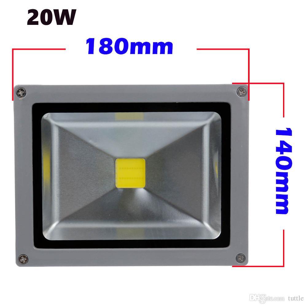 Spedizione gratuita 10W 20 W 30 W 50 W LED Outdoor Proiettore AC85-265V RGB Bianco caldo Freddo Bianco Rosso Verde Blu Giallo con Telecomando IR