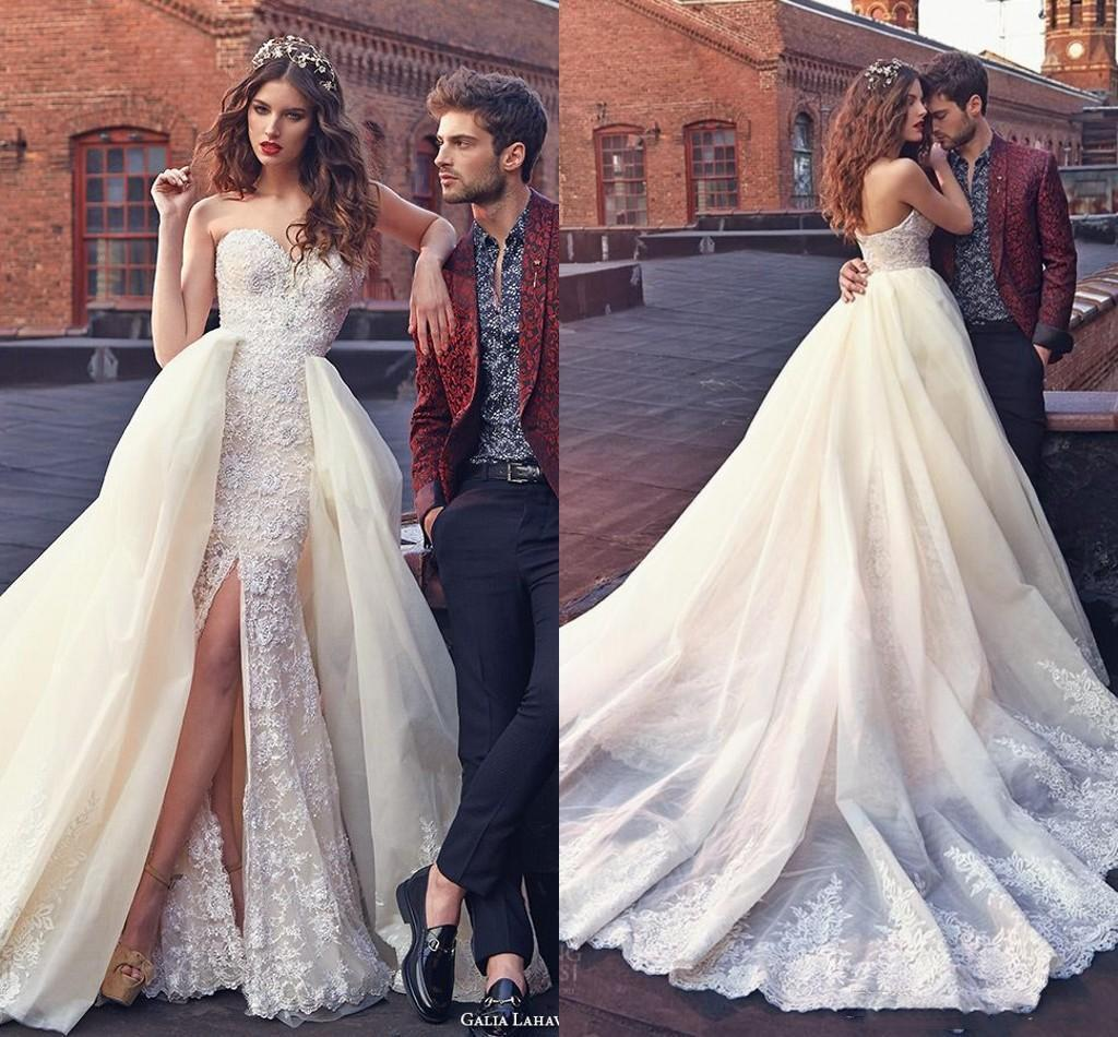 2016 Paolo Sebastian Wedding Dresses Mermaid Lace Bridal