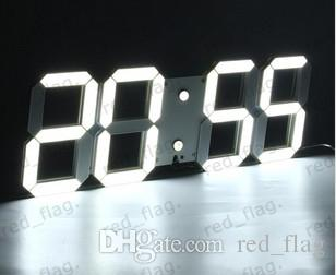Large Modern 3d Design Digital Led Wall Clock Watches 24 Or 12