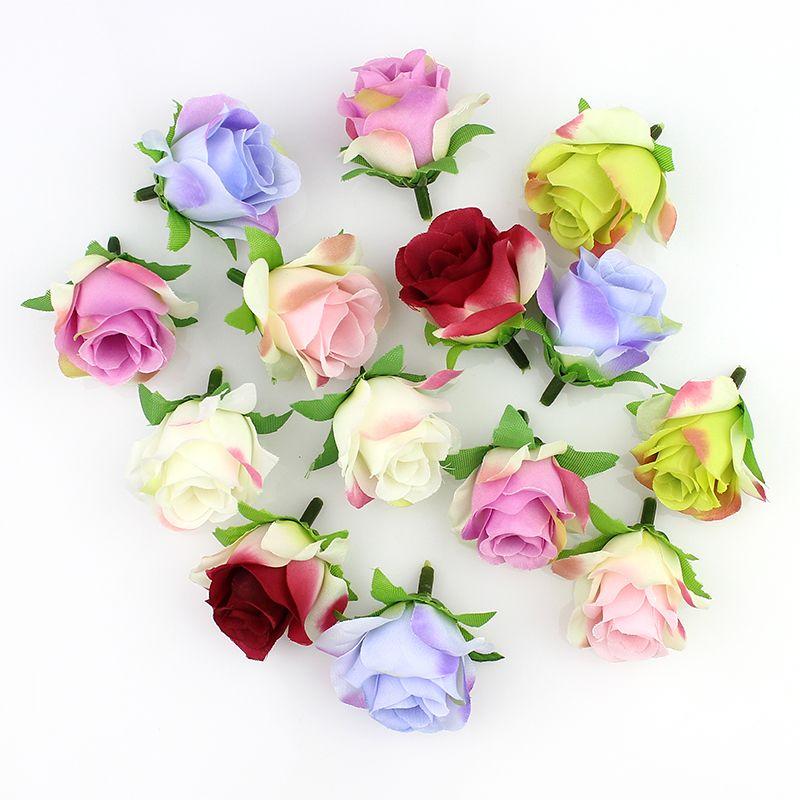 Artificial Silk Flowers Rose Head Diy Flower Ball Festival Home