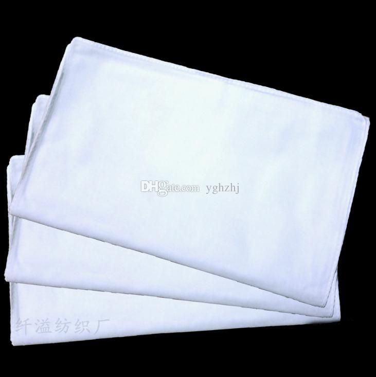 Pañuelo al por mayor, pañuelo blanco del algodón, cuadrado blanco de alta densidad de los 54cm, pintura del bordado del teñido anudado DIY cuadrado, envío libre