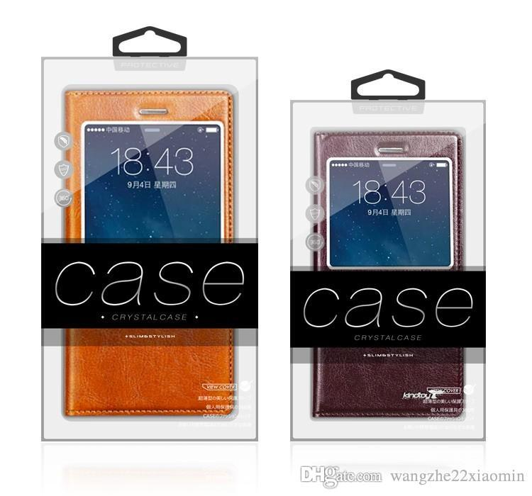 New Arrival Custom Clear Box with Inner Trays for iPhone 6 6plus iPhone 7 Plastic PVC Colorful Packaging Box Fashion Packaging Case