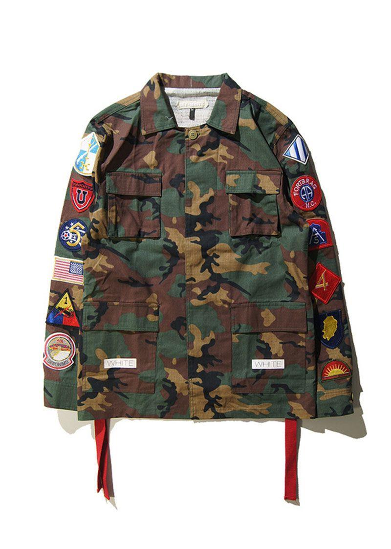 Camouflage jacke mit flagge