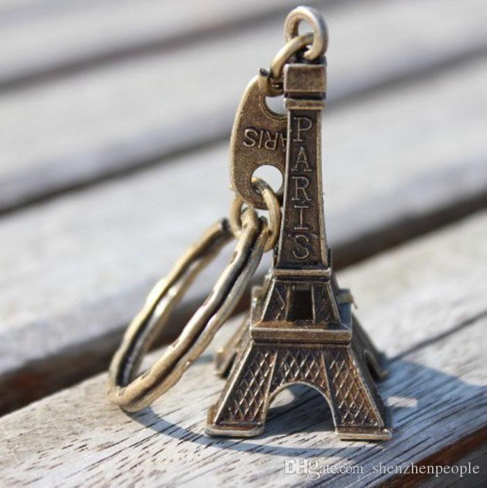 هو 500 قطعة / الوحدة الأزياء الكلاسيكية الفرنسية فرنسا تذكارية باريس 3d برج ايفل كيشاين كيرينغ مفتاح سلسلة حلقة شحن مجاني