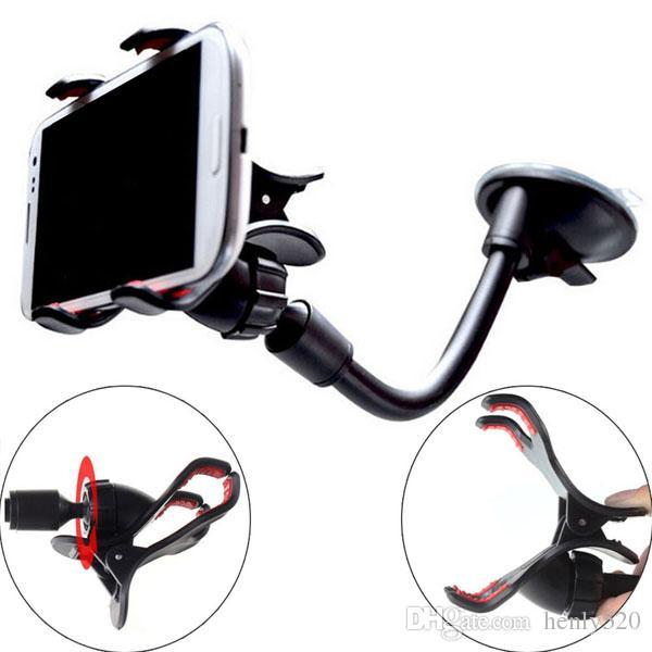 Universalität 360 Grad drehbarer langer Arm Windschutzscheibe Handy-Auto-Halterung Halter Ständer für iPhone Handy KFZ-Halter YM0116