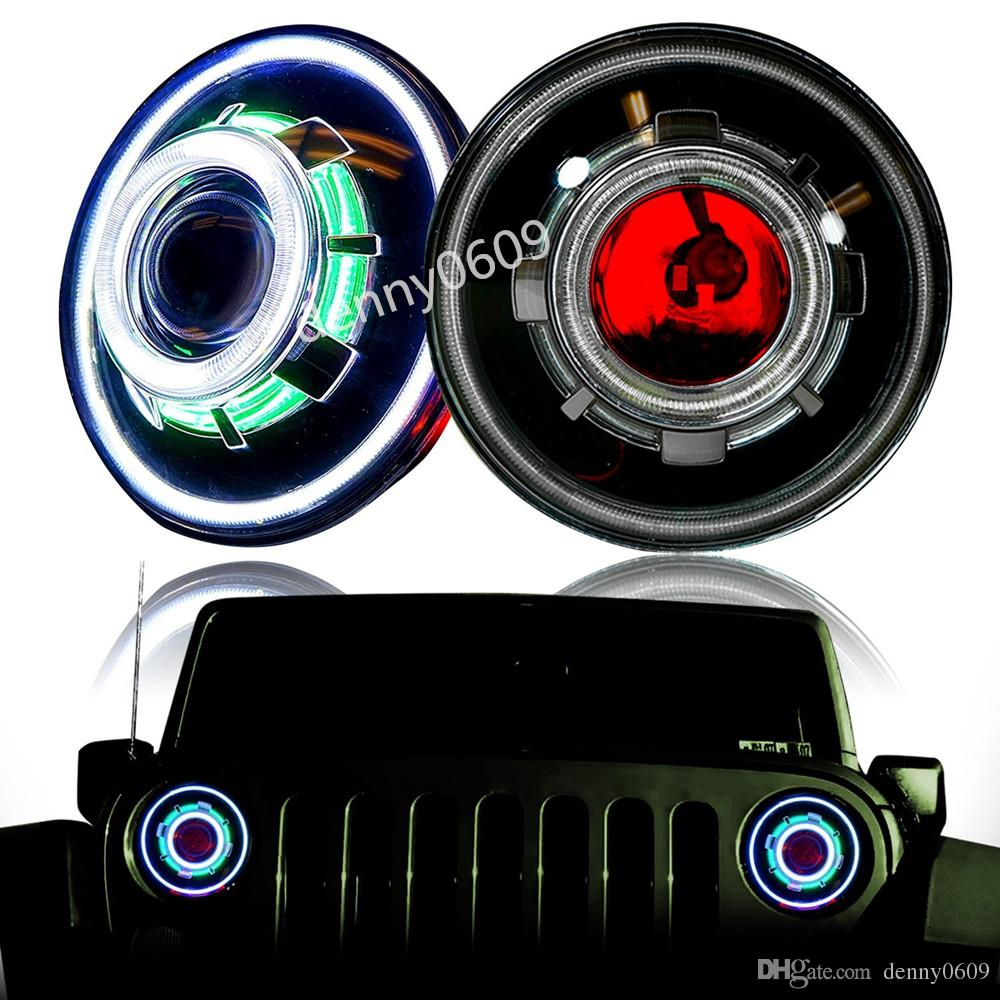 Hid 7 35w Led Projector Headlight For Jeep Cj Wrangler Jk