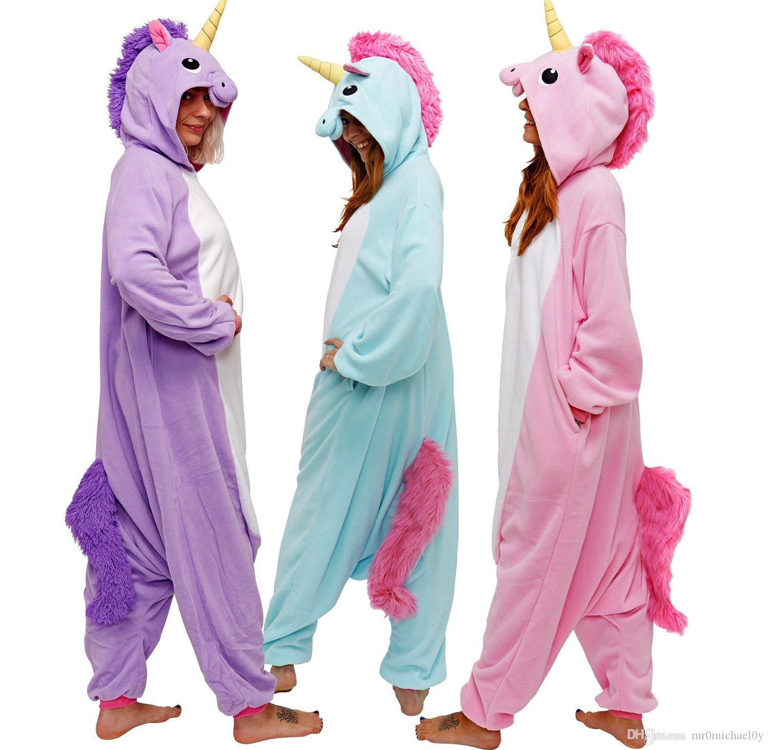 2019 HappyBuy Kigurumi Animal Onesie Rainbow Pony Adult Onesie Pajamas  Hooded All In One Sleepwear Animal Pajamas Fleece One Piece Pajama From  Mr0michael0y de5197a5f