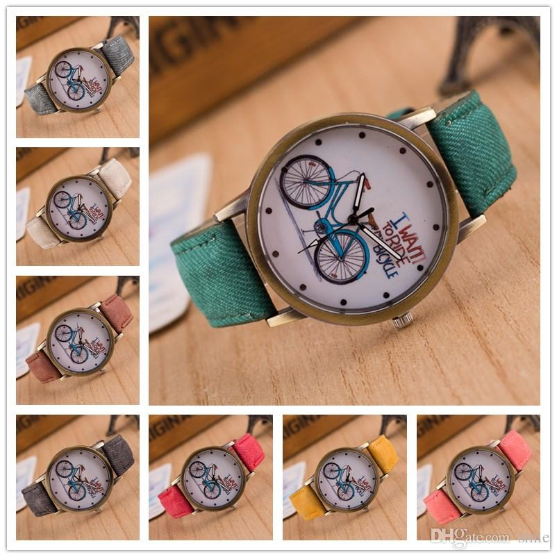 bike retro watch for women canvas kids watches sale fabric girls i