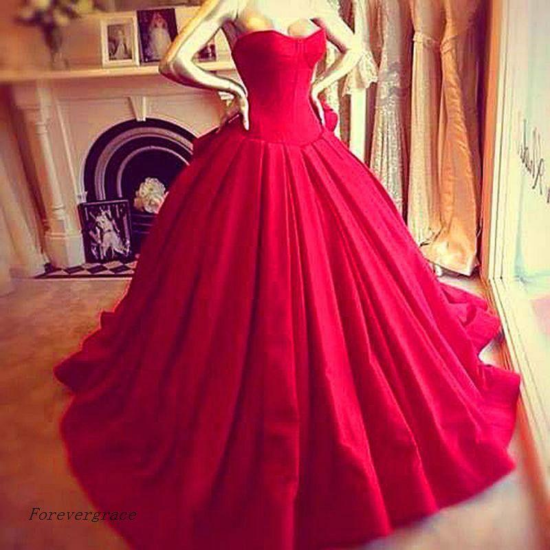 Großhandel 2017 Red Prom Kleid Victoria Royal Style Bodenlangen ...