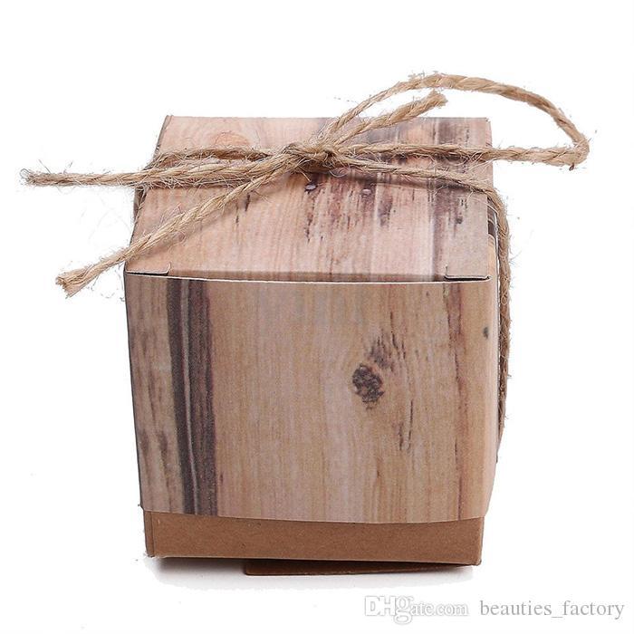 심장 사랑 소박한 달콤한 사탕 상자 크래프트 종이 웨딩 파티 호의 선물 상자 파티 공급