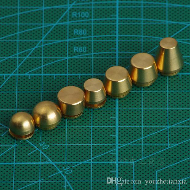 diy brass leather craft Bucket-type foot nail bag hardware part decorative nail screw handmade