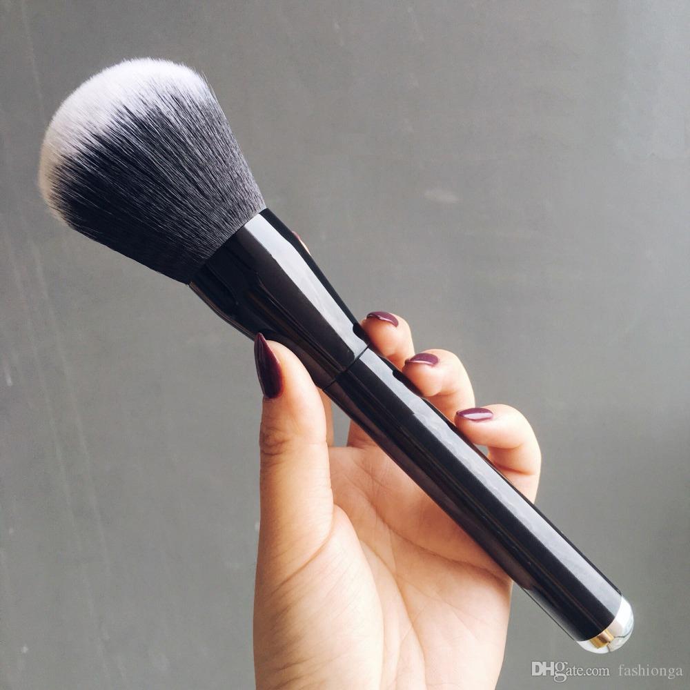 Macio Rosto Maquiagem Grande Pó Escova Blush Foundation Make Up Ferramenta Grandes Cosméticos Escovas De Alumínio, Frete Grátis