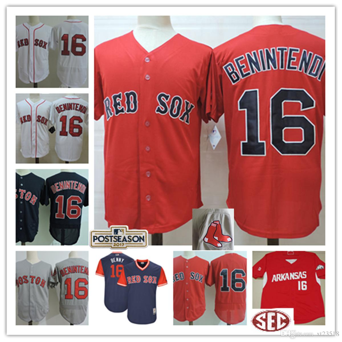27180992cb7 mens boston red sox 16 andrew benintendi white home stitched mlb majestic  cool base jersey