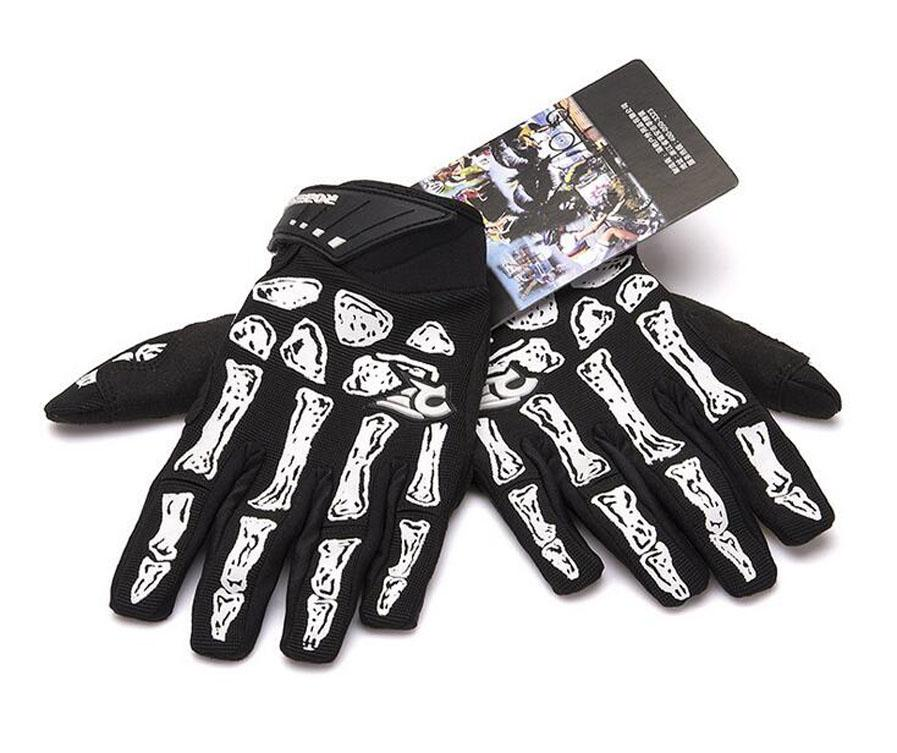 Men Professional Sports Gel Pad Gloves, Autumn Winter Skeleton Bone Full Finger Gloves, Men's Cycling Bike Bicycle Motorcycle Gloves