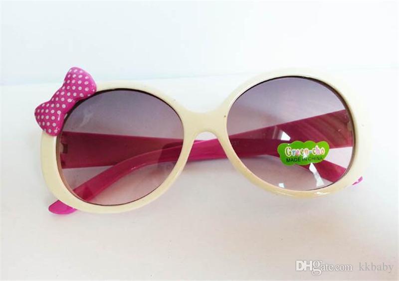 Bambini Occhiali da sole bambini Bambini Occhiali da sole con montatura in plastica Ragazze Baby Bowknot Cat Eye Shades Occhiali da vista Eyewear UV400