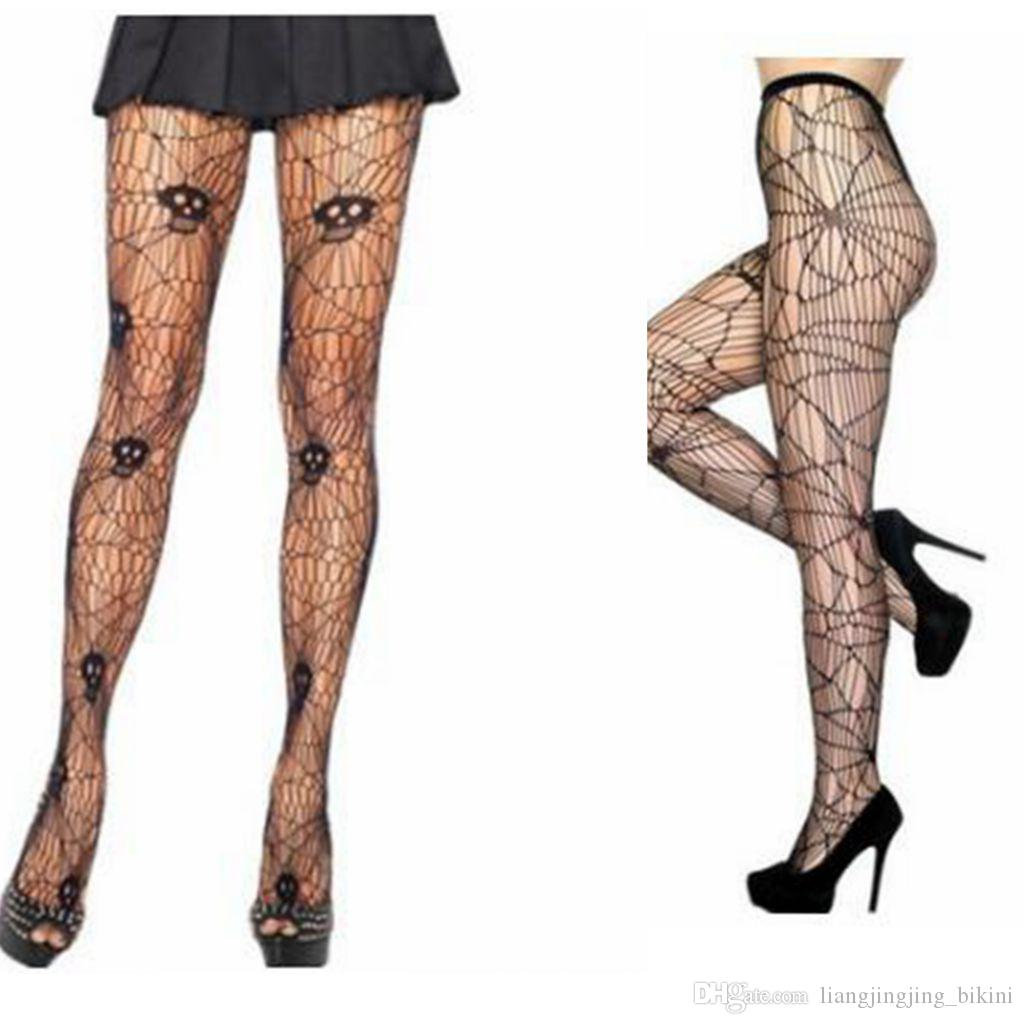 2019 Spider And Skeleton Printed Tights For Women Pantyhose Sexy Stockings  For Party Halloween Stockings Tights Pantyhose KKA3088 From  Liangjingjing bikini 270a528d327