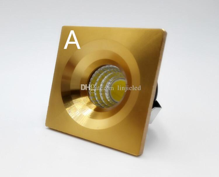 White/Warm MINI Square Dimmable 5W High Power LED Recessed Ceiling Down Light Lamps LED Downlights for Living Room Cabinet Bedroom