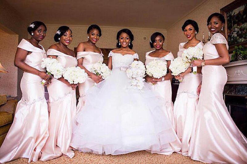 2016 2017 African Nigerian Women Bridesmaid Dresses Cheap