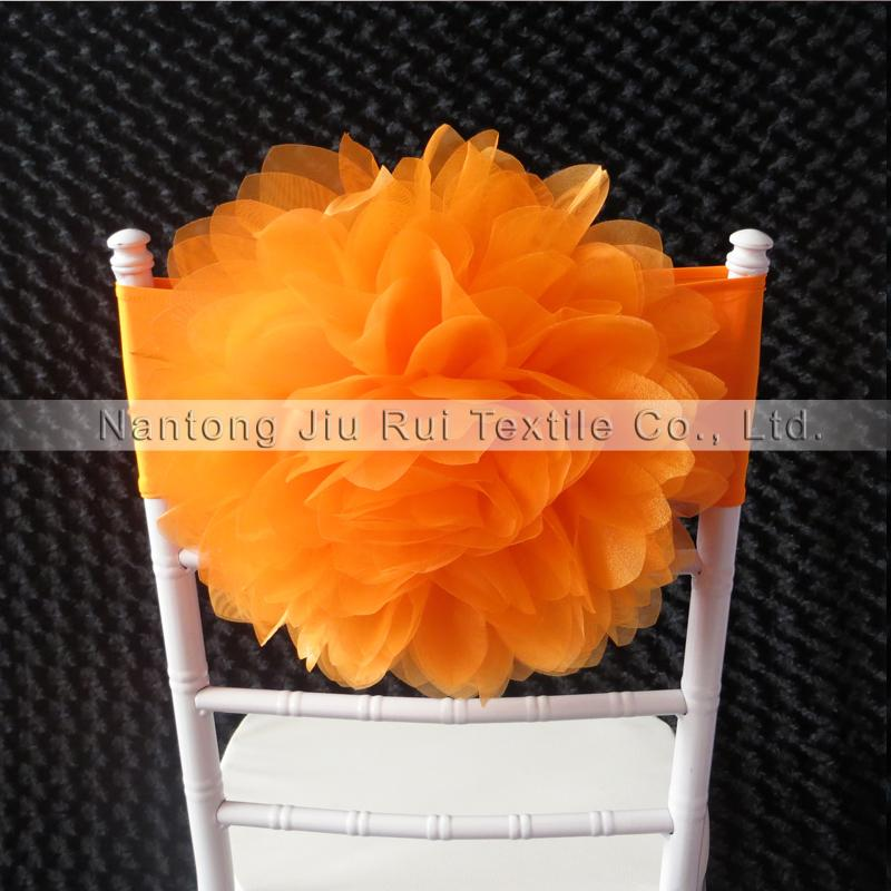 Бесплатная доставка оранжевый / арбуз красный 2 Цвет Для выбора 35 см dia лайкра Chiavari стул группа для свадьбы использования