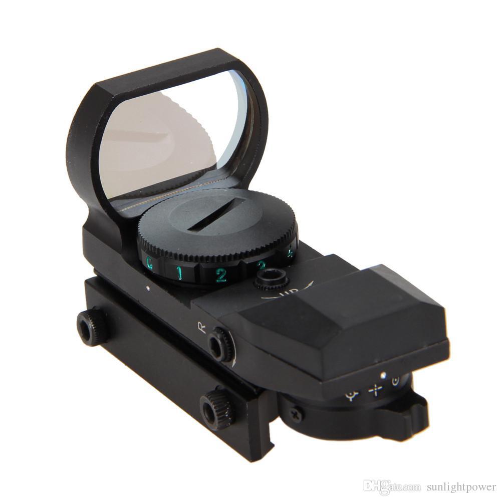 Sıcak Holografik 4 Reticle Kırmızı / Yeşil Nokta Taktik Sight Kapsam avcılık için Dağı ile Yeni Ücretsiz Kargo