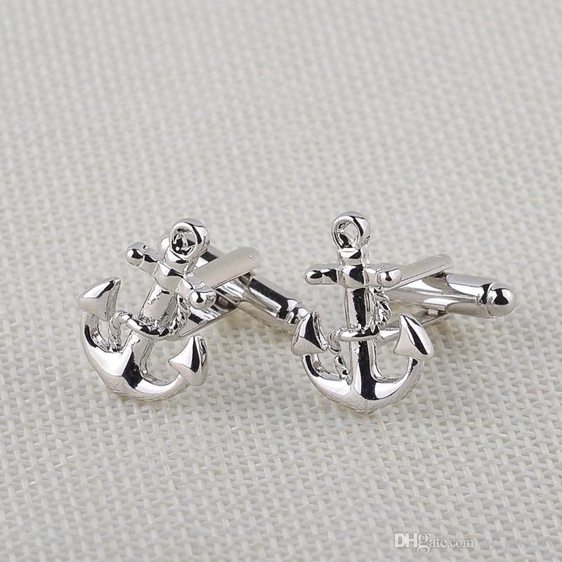 Yüksek Kalite Mens Suit Çapalar Düğün Için Gemelos Kol Düğmeleri Moda klasik Fransız Gömlek Marka Manşet Bağlantılar Manşet Düğmeleri Aksesuar