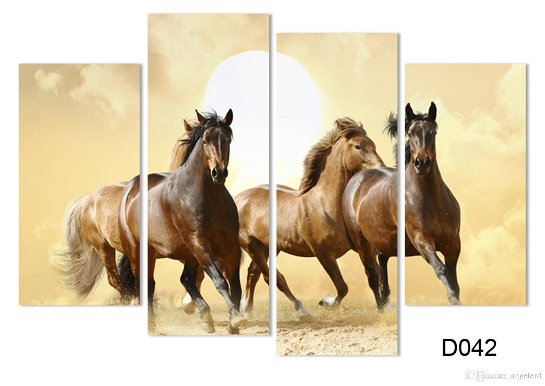Brilliant 25+ Horse Canvas Wall Art Decorating Design Of Dark ...