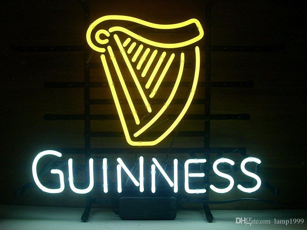 2019 Brand New Guinness Beer Bar Neon Sign Real Glass Neon