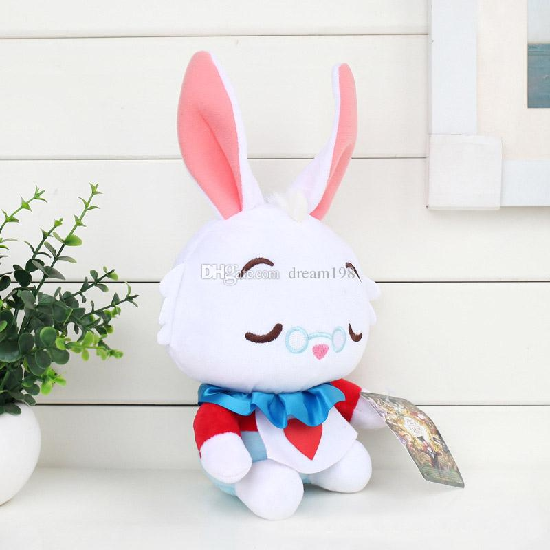 """New 3 Style Alice in Wonderland Alice Cheshire Cat White Rabbit Plush Doll Stuffed Animals Toy Holiday Gifts / Size: 8"""" 20CM"""