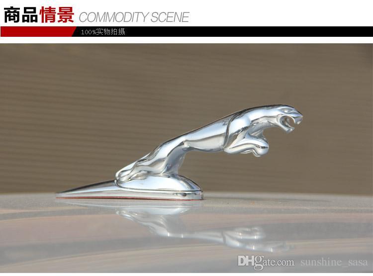 Qualitäts-Legierung für JAGUAR Emblem Fronthaube Bonnet-Chrom-Metall Auto Abzeichen bonet Großhandel für XF XJ XK S-TYPE X-TYPE / 130mm