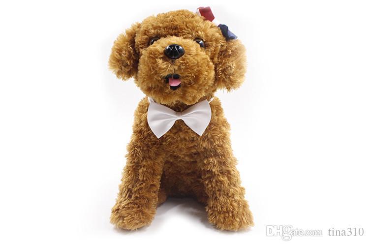 19 cores Pet Dog laço laço colarinho acessórios de decoração com flores Supplies cor Pure bowknot gravata IA626