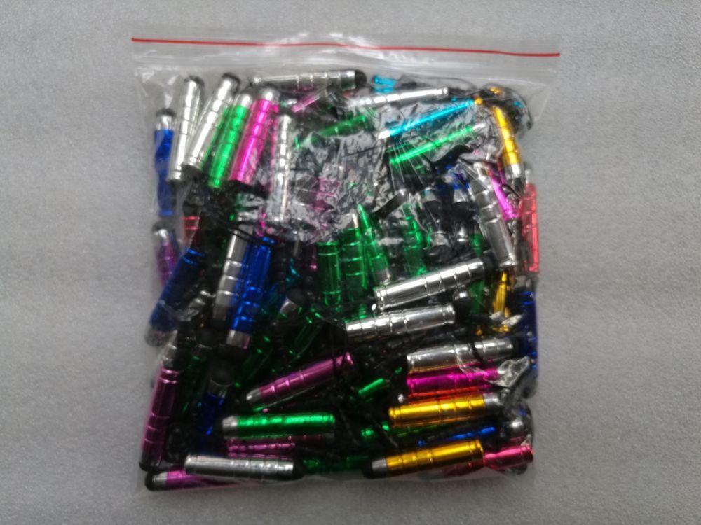 penna stilo in plastica universale tablet touch screen capacitivo PC PDA telefoni cellulari smart con tappi antipolvere touch penna a colori