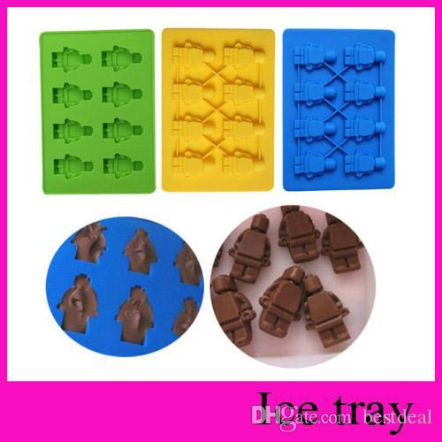 2018 Lego Robot Man Aberdeen Ice Trays Ice Mold Ice Cube Lattice ...