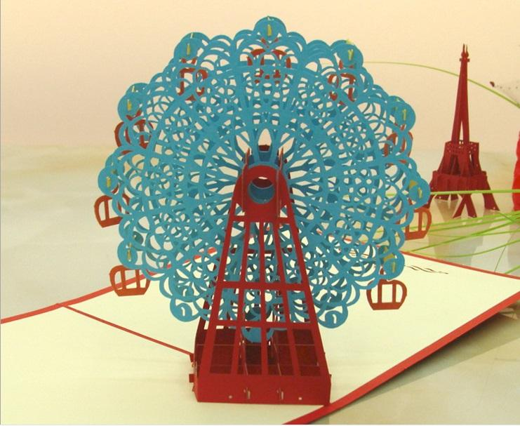 3d Ferris Wheel Stereo Greeting Card Manufacturers Supply Handmade – Birthday Card Manufacturers