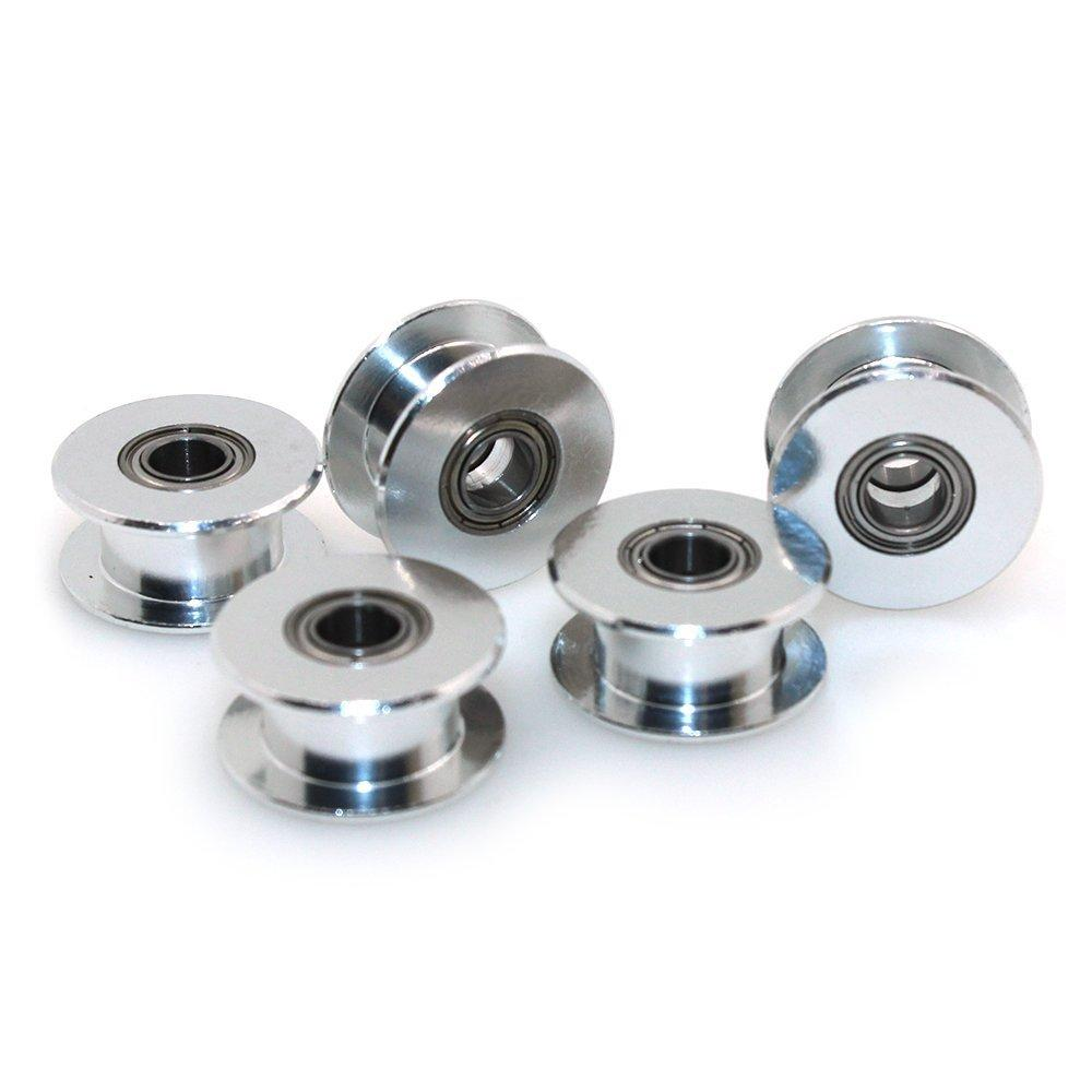 2018 Gt2 5mm Bore Aluminum Toothless Timing Belt Idler Pulley For 3d 40 Teeth 10mm 6mm Printer Width Pack Of From Yellowtech 33