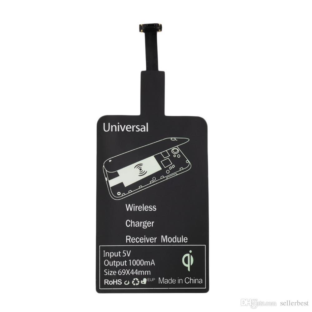 5V 1000MA 유니버설 MicroUSB 포트 마이크로 USB 울트라 얇은 무선 전원 충전 패드 충전기 모듈 리시버 태그 스틱 QI 안 드 로이드 WPC-1.1