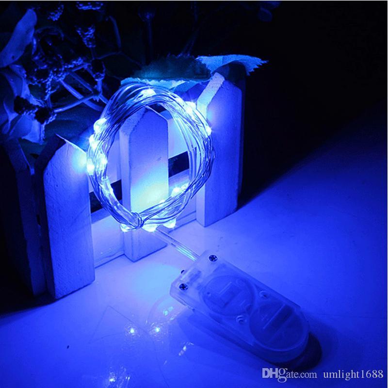 크리스마스 불빛 CR2032 세포 건전지는 당 결혼식을위한 2m 20LED LED 끈 빛 방수지도 한 요정 빛을 운영했습니다