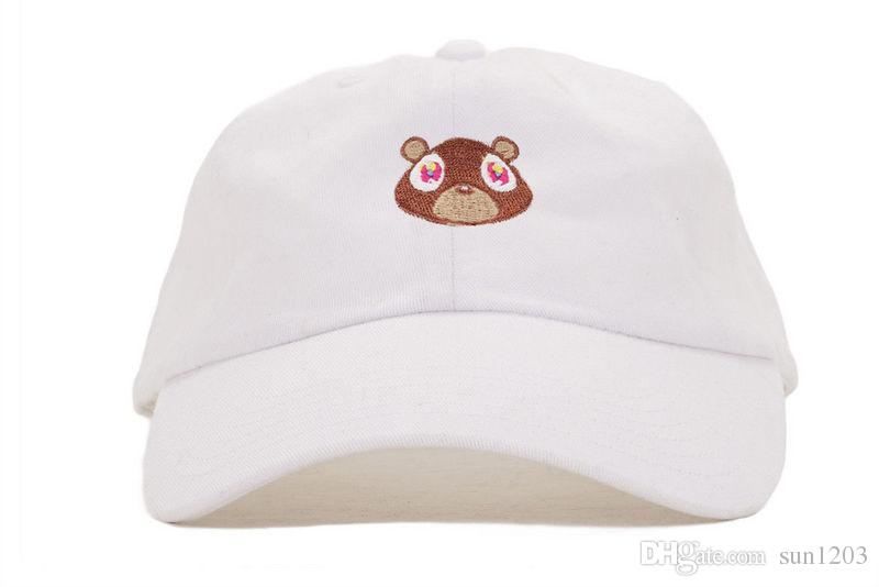 Kanye West Graduation College Dropout Bear Dad Hat Cap Never Not Weird  Baseball Cap Hip Hop Summer Snapback YEEZUS Cap Hat Flat Brim Hats Baby Cap  From ... 82f2c846368
