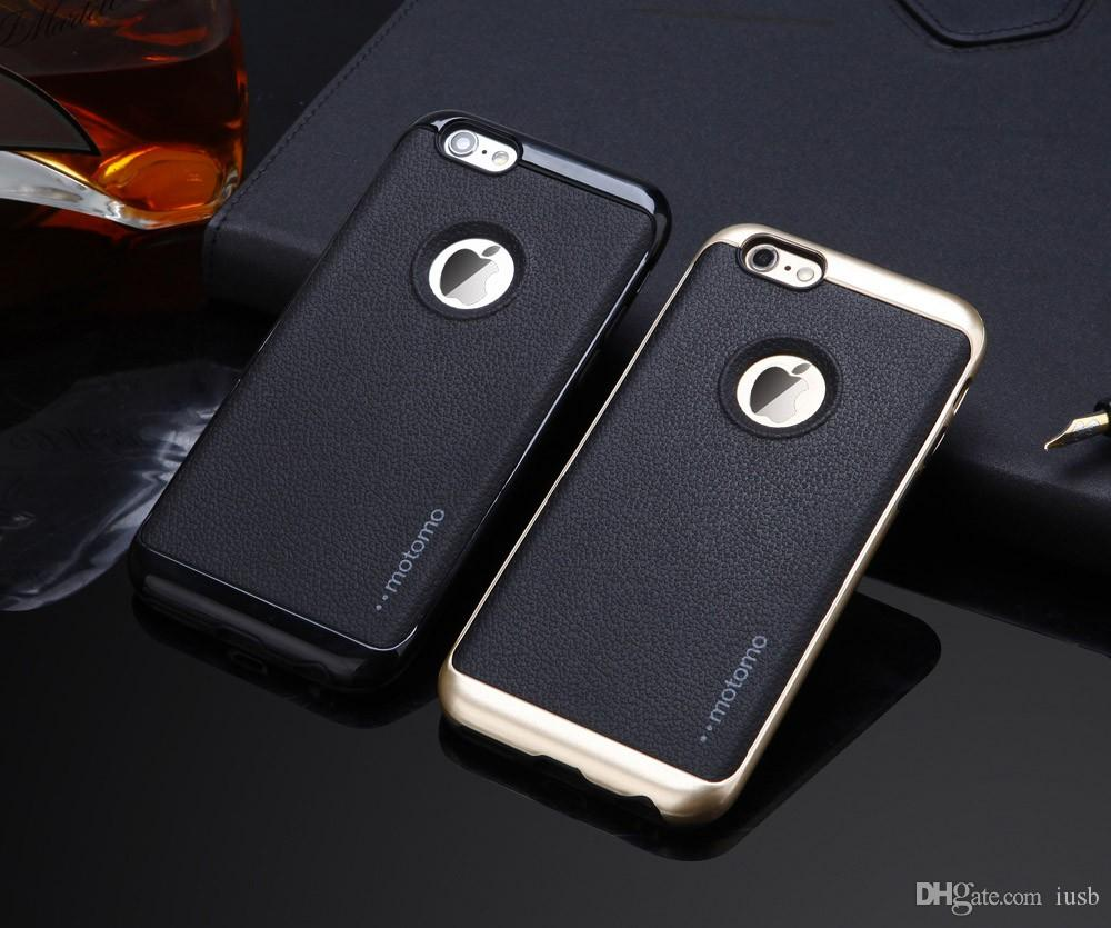 Business Like Motomo Leather Back Pc Cover Case For Iphone