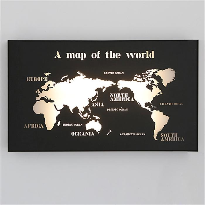 2018 hot sell wall lamps aisle lamp creative world map led wall 2018 hot sell wall lamps aisle lamp creative world map led wall living room coffee bar office will study background wall decoration painting room from gumiabroncs Images