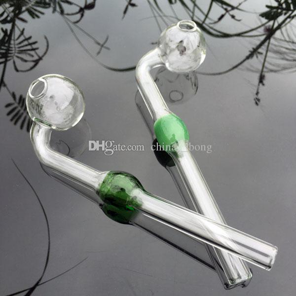 Оптовая стеклянная масляная горелка стеклянные ручные трубы масляная горелка курительные трубы ручной рециркулятор масляная горелка