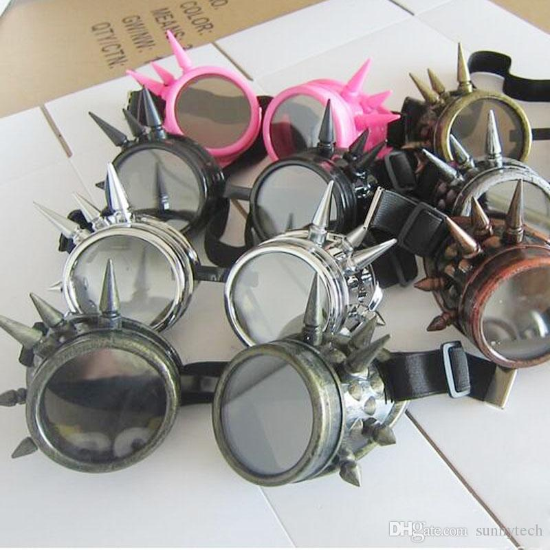 Vintage Victorian Gothic Style Party Event Cosplay Tool Rivet Decoration Steampunk Goggles Glasses Welding Punk Party Supplies ZA1333